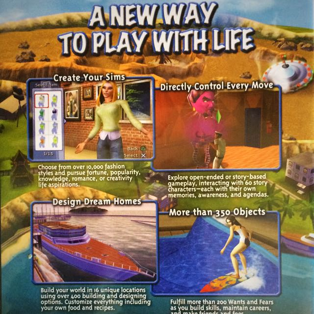 PS2 The Sims 2 Game