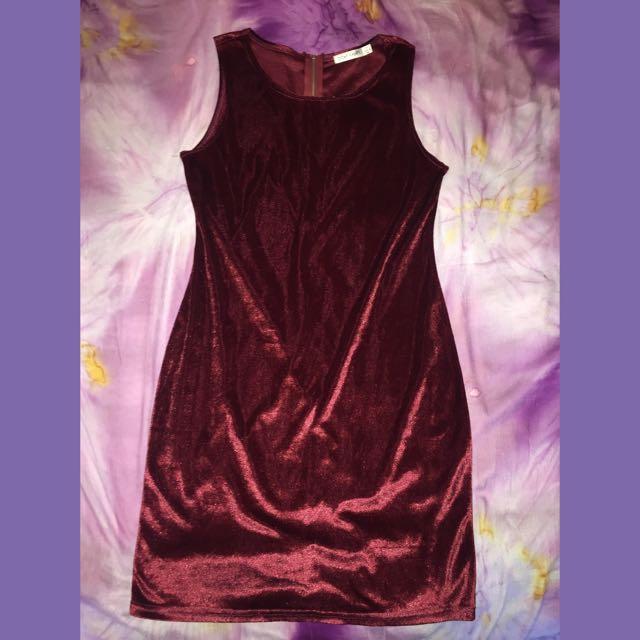Red Velvet Bodycon Dress
