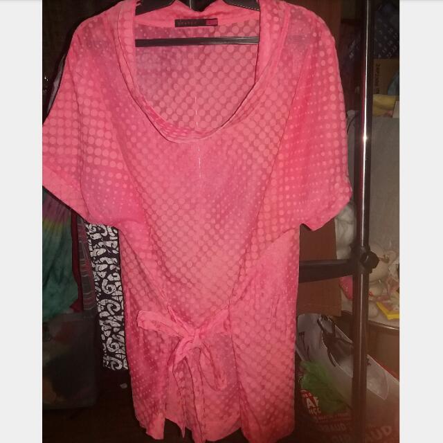 SHAPES top (Pink Polka Dots)