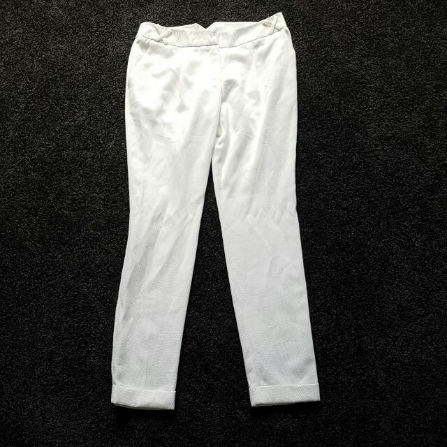 Size 10 WHITE Semi Formal  Pants