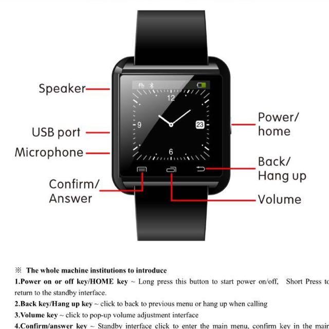 Stylish Smart Watch U8, Men's Fashion, Watches on Carousell