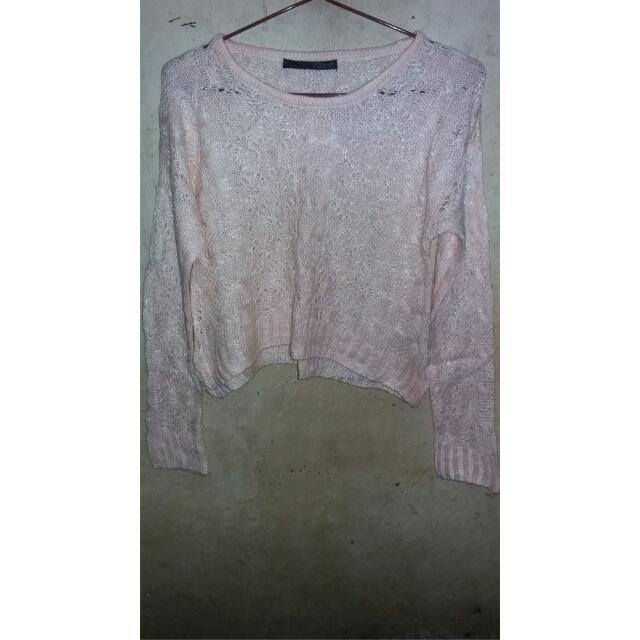 Sweater Rajut Crop