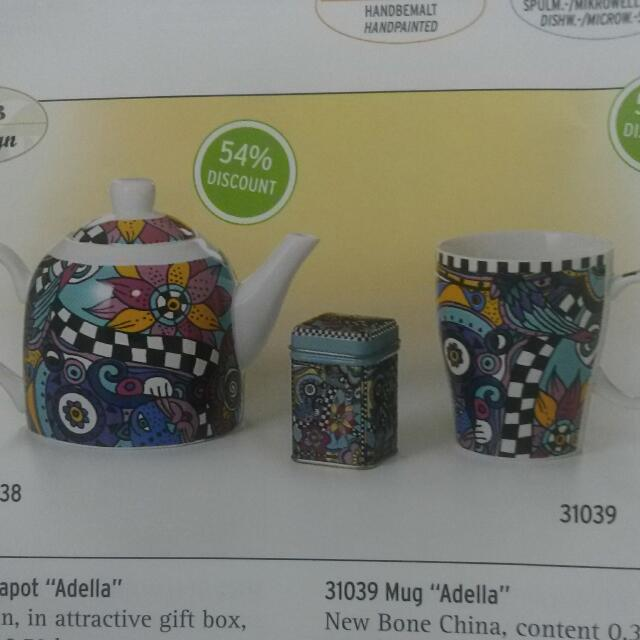 "Tea set ""adella"""
