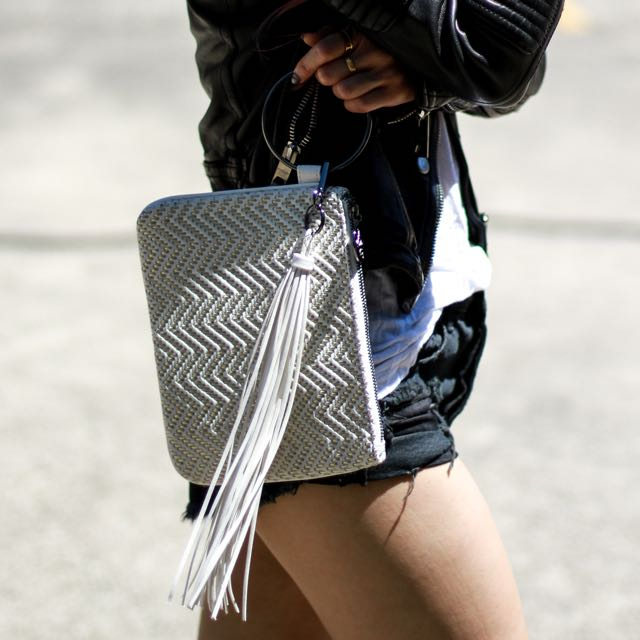 The Madame Bag - The Chevron Clutch Bag