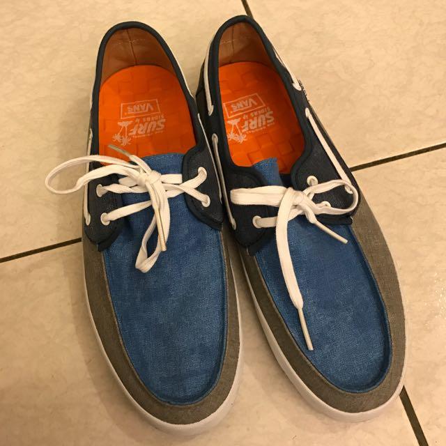 二手VANS Surf Chauffeur 藍色拼灰色帆船鞋