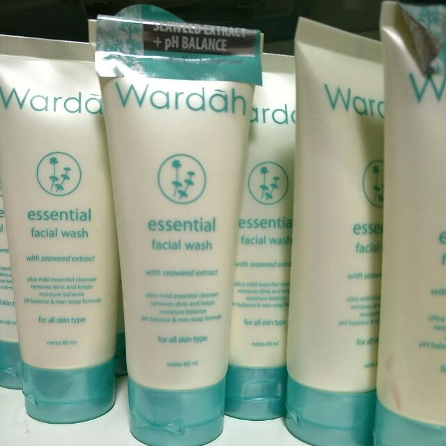 Wardah ~~ Essential Facial Wash - 60ml, Bulletin Board, Looking For on Carousell