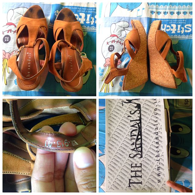 Wedges The Sandals Wanita Ori