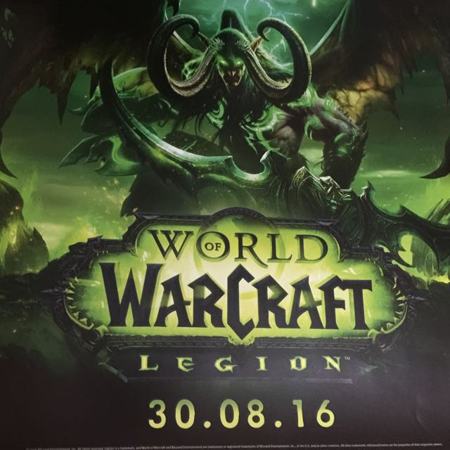World Of Warcraft Legion Double Sided Poster.