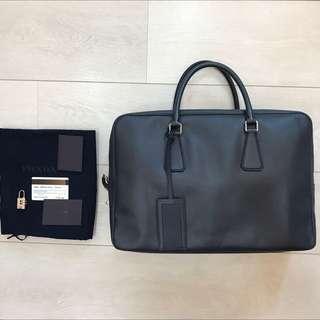 Prada Saffino Leather Work Bag