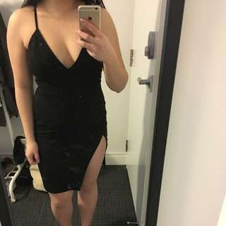Single Strap Black Dress - Forever 21