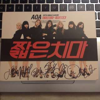(Autographed) AOA - Miniskirt