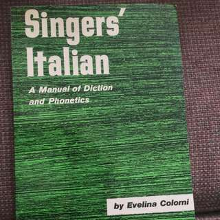 Singer's Italian By Evelina Colorni