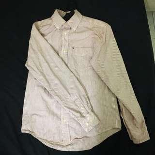 Tommy Hilfiger Striped Shirt(White Pink)