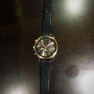 Black And Gold Colour Watch