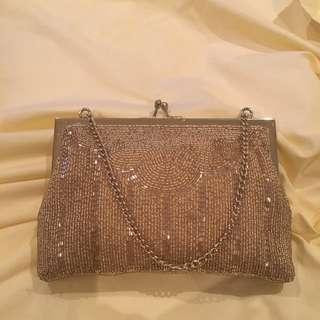 Gold Beaded Vintage Ladies Handbag
