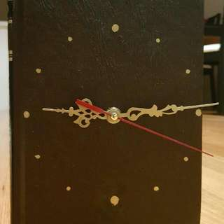 Clock. Hand Made Book Clock. 2 No.