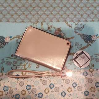 BNWT Rose Gold Rubi Wallet / Tech Wristlet