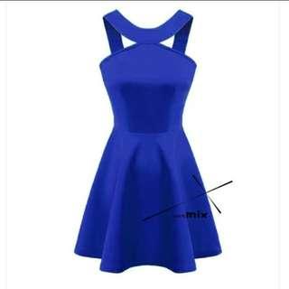 洋裝 寶藍色洋裝