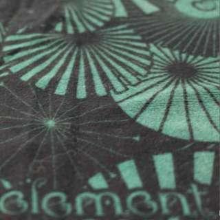 Element Black & Green Geometric Logo Graphic Tee Shirt