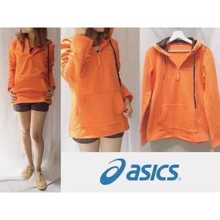 #i-003-ASICS Jacket Orange sz L100cm Pj65cm bahan seperti talas waterproof dalemnya seperti bulu handuk bayi, halus dan hangat, warna stabilo kerenn @135rb #SALE #SALE #SALE @99rb