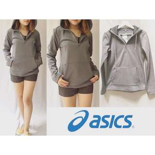 #i-006-ASICS Jacket GREY sz S90cm Pj65cm bahan seperti talas waterproof dalemnya seperti bulu handuk bayi, halus dan hangat, warna stabilo kerenn @135rb #SALE #SALE #SALE @99rb