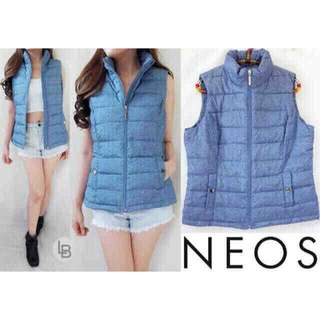 I017-NEOS blue puffer vest L104cm Pj56cm bagus ORI !! Bahan parasut halus anti air @115 Sale @95rb