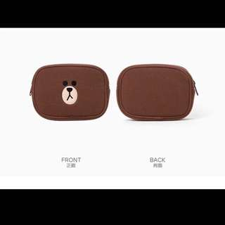 Line Friends Brown Small Pouch