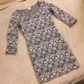 Dynamite Bodycon Print Dress