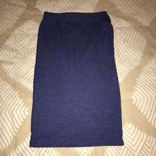 Forever 21 Blue High Waisted Skirt
