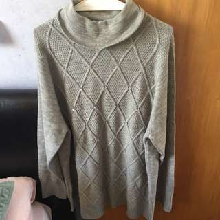 Knitted Turtle Neck Jumper, Free Shipping