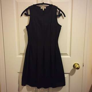 Black Dress with Cutwork at Bottom Hem