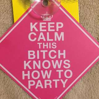 Pink Party Window Sign