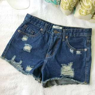 CUXE Histyle High Waist Jeans Shorts