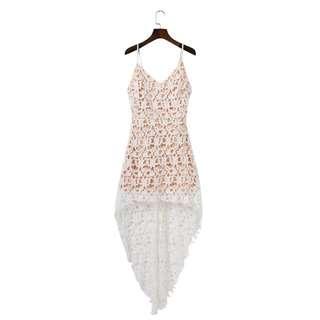 (PO) Asymmetrical Lace Dress