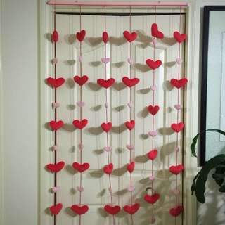 3D Heart Shape Curtain