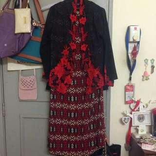 REDUCED PRICE Black Kebaya