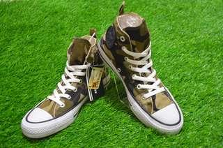 Sepatu Converse ALL STAR Army high converse army converse high brown