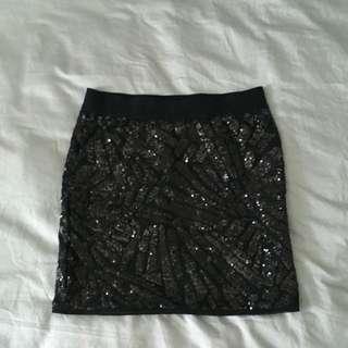Bcbg Sequin Skirt