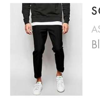 ASOS Slim Smart Cropped Pants