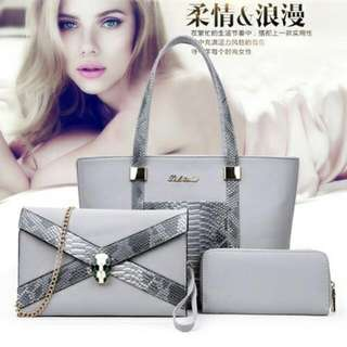 B0035 (3in1)  MATERIAL PU SIZE L29XH23L13CM WEIGHT 1000GR COLOUR GRAY