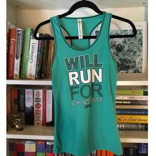 Lorna Jane Green Sports Exercise Singlet Activewear Size Small - Medium