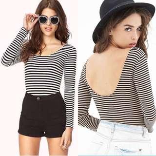 Forever21 Striped Bodysuit