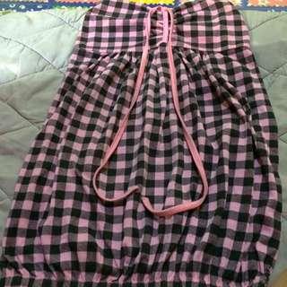 Checkered Pink&Black Tube
