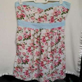 Tube Top With Flower Design