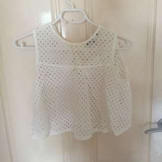High Necked Lace Crop