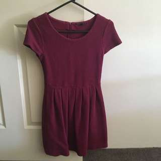 Tokito Size 8 Burgendy/Purple Mini Dress