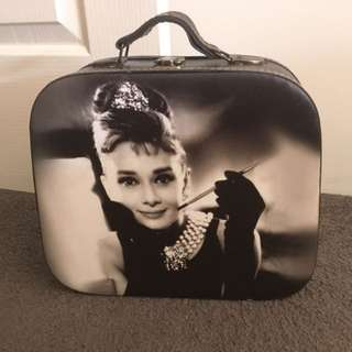 Audrey Hepburn Vintage Inspired Decorative Suitcase
