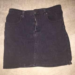 Minkpink Black Denim Skirt