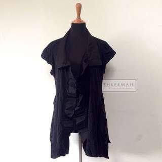 Black Flare Sleeveless Cardigan
