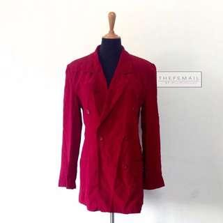Deep Red Vintage Blazer
